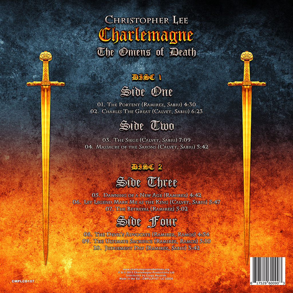Christopher Lee: Charlemagne - The Omens Of Death LP